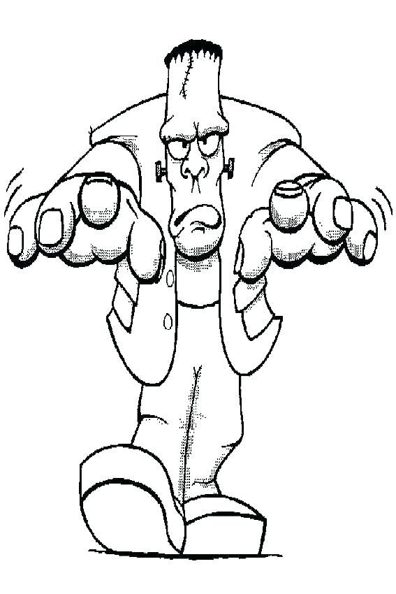 Halloween Frankenstein Coloring Pages 17