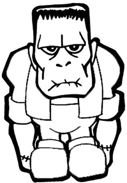 Halloween Frankenstein Coloring Pages 18