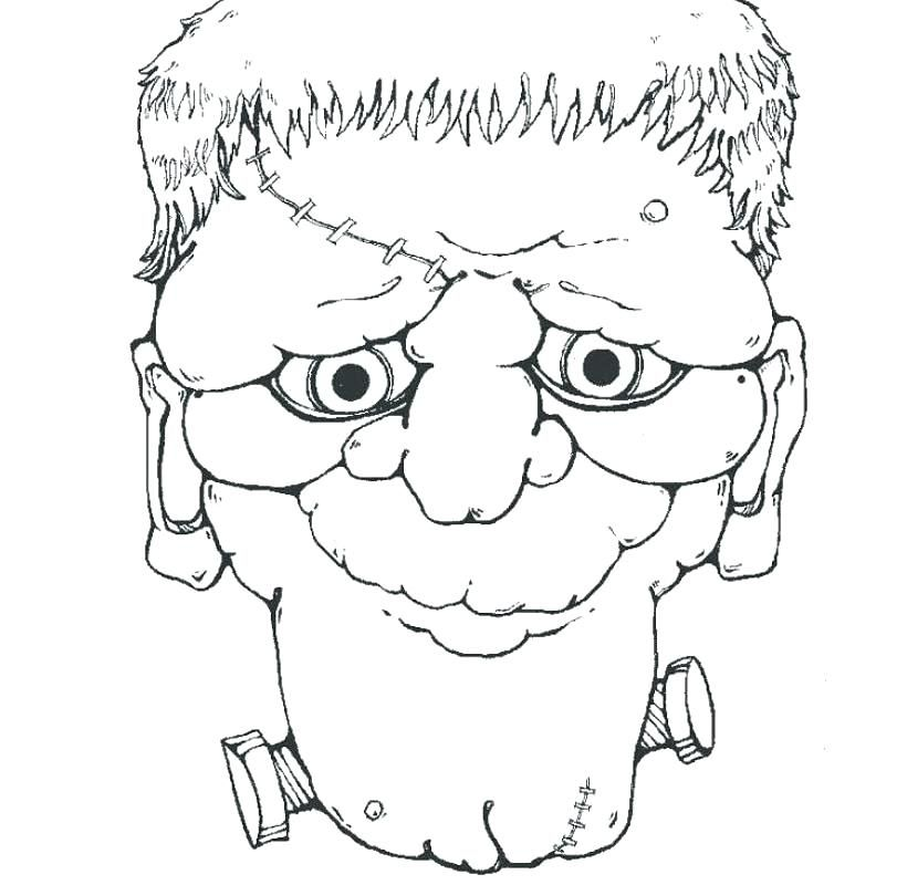 Halloween Frankenstein Coloring Pages 20