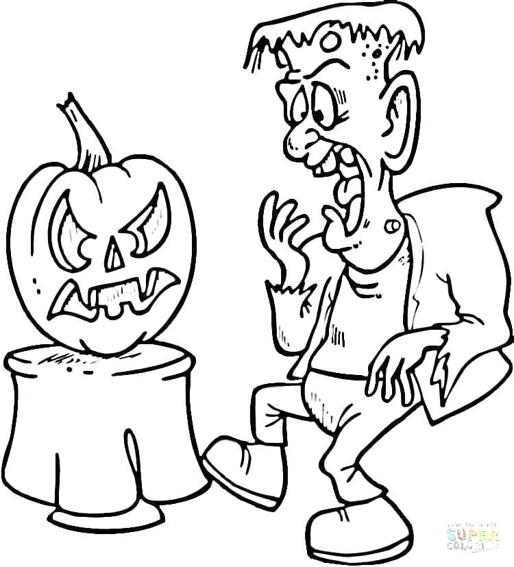 Halloween Frankenstein Coloring Pages 21