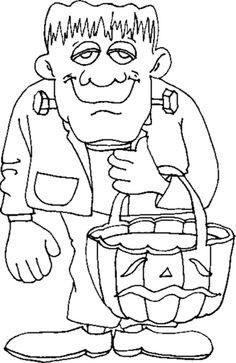 Halloween Frankenstein Coloring Pages 24