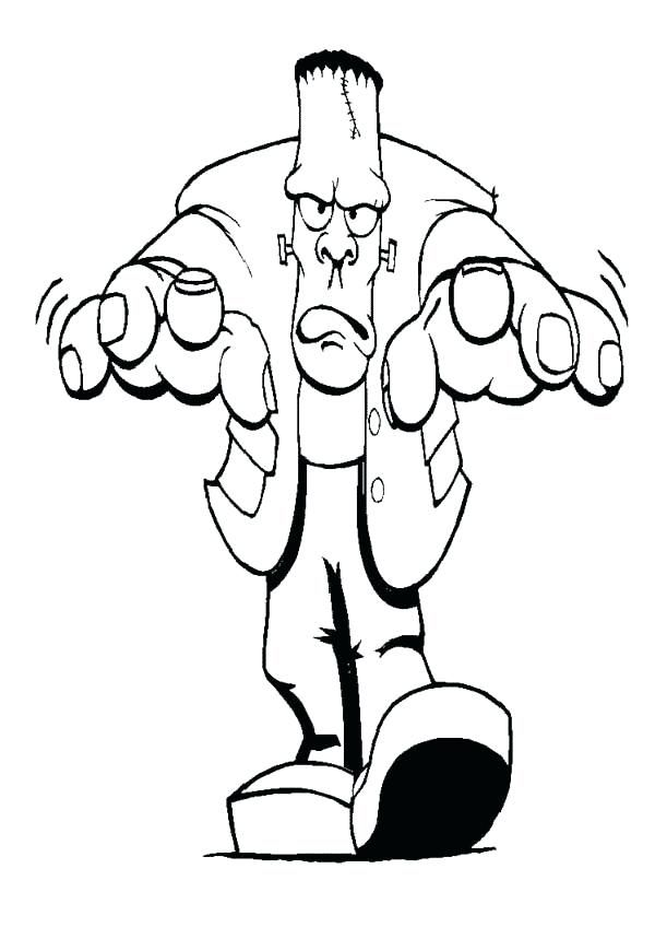 Halloween Frankenstein Coloring Pages 25
