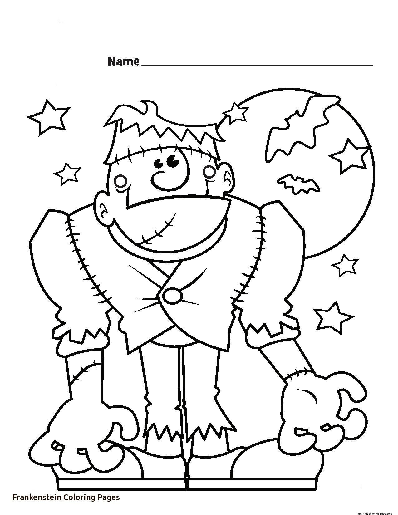 Halloween Frankenstein Coloring Pages 29