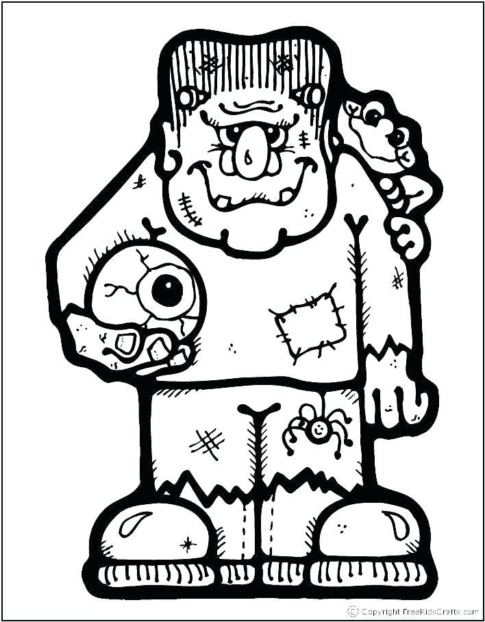 Halloween Frankenstein Coloring Pages 33