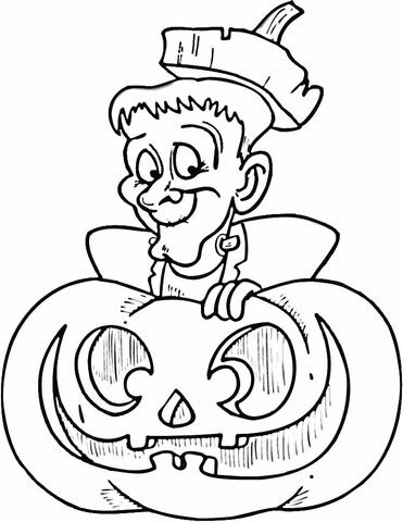 Halloween Frankenstein Coloring Pages 41