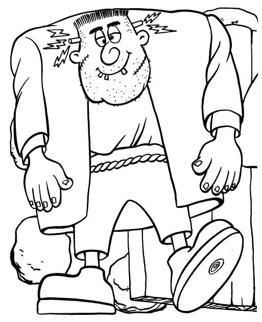 Halloween Frankenstein Coloring Pages 44