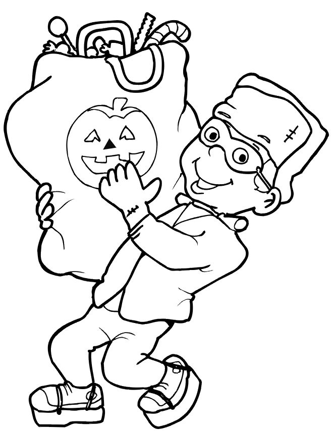 Halloween Frankenstein Coloring Pages 45