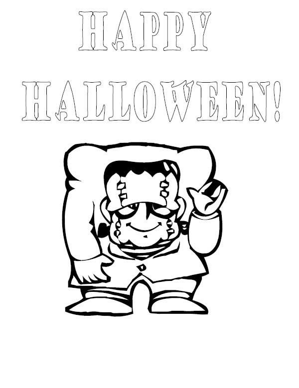 Halloween Frankenstein Coloring Pages 46