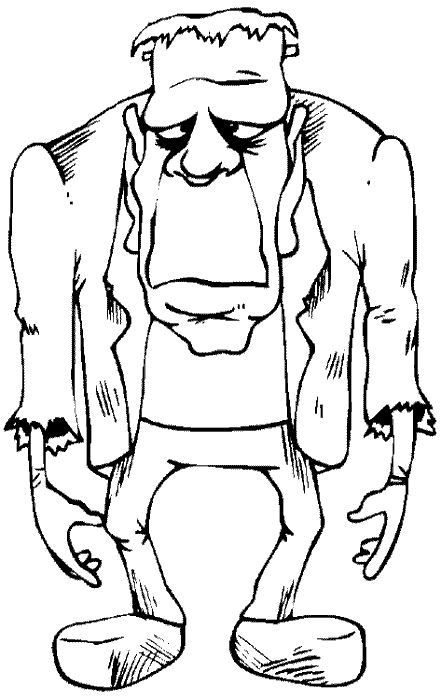 Halloween Frankenstein Coloring Pages 48