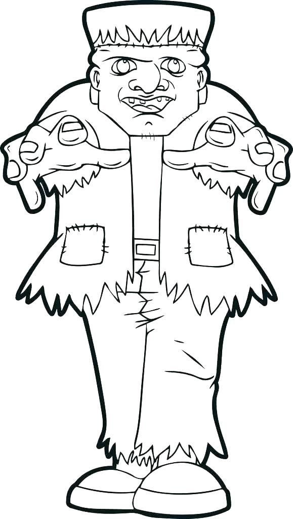 Halloween Frankenstein Coloring Pages 50