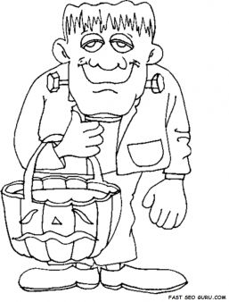 Halloween Frankenstein Coloring Pages 8