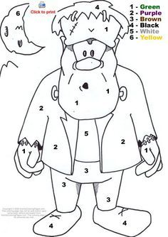 Halloween Frankenstein Coloring Pages 9