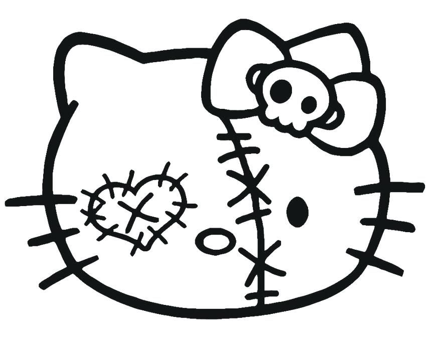 Hello Kitty Halloween Coloring Page 15