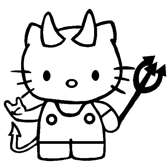 Hello Kitty Halloween Coloring Page 22