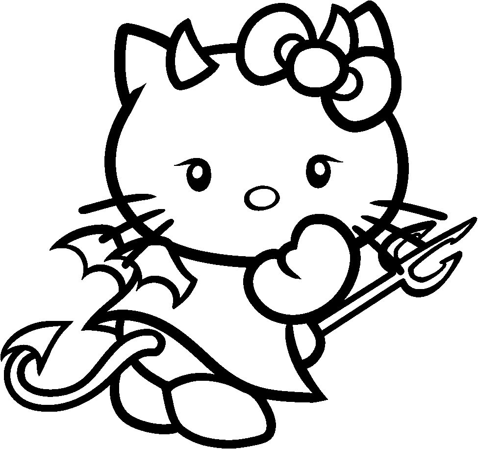 Hello Kitty Halloween Coloring Page 24