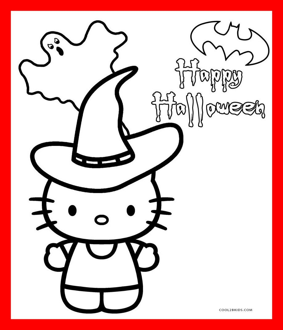 Hello Kitty Halloween Coloring Page 26