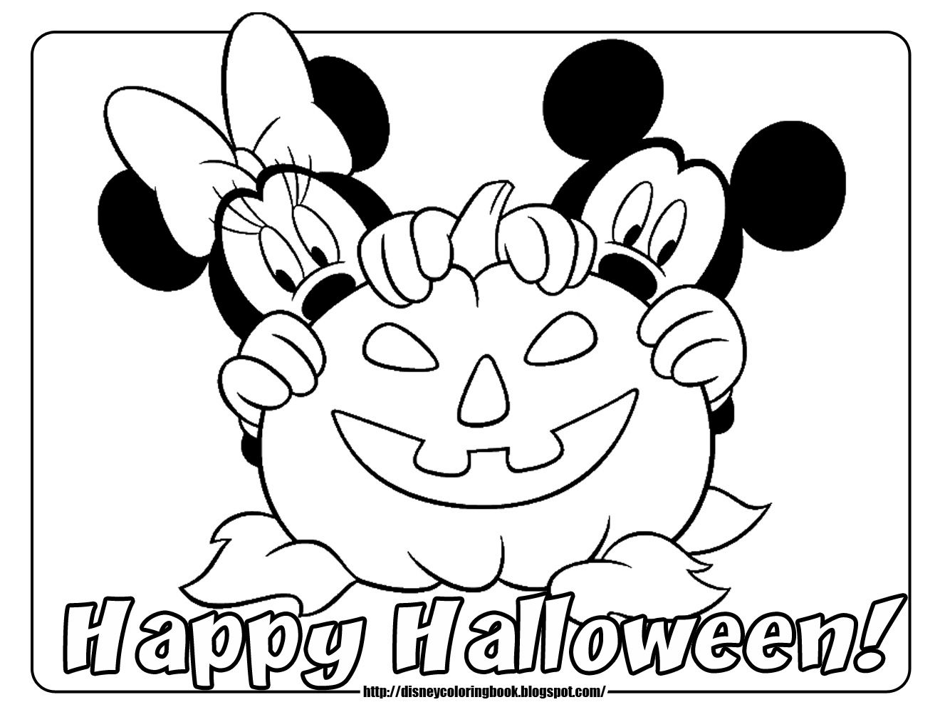 Minnie Mouse Easter Coloring Pages 1