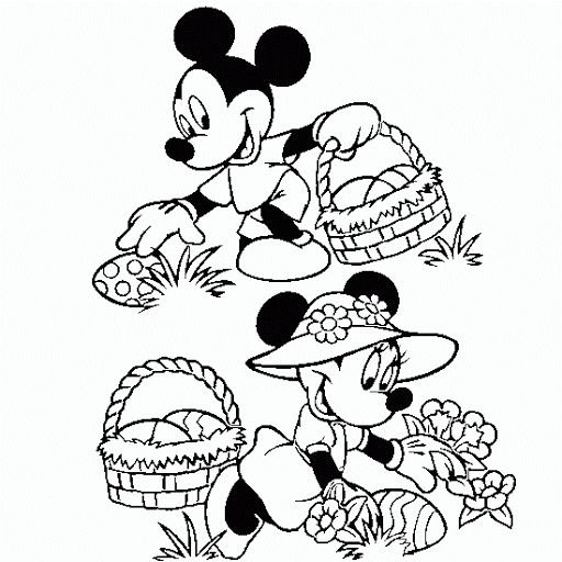 Minnie Mouse Easter Coloring Pages 17