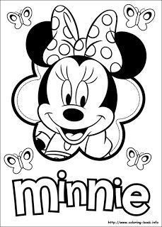 Minnie Mouse Easter Coloring Pages 18