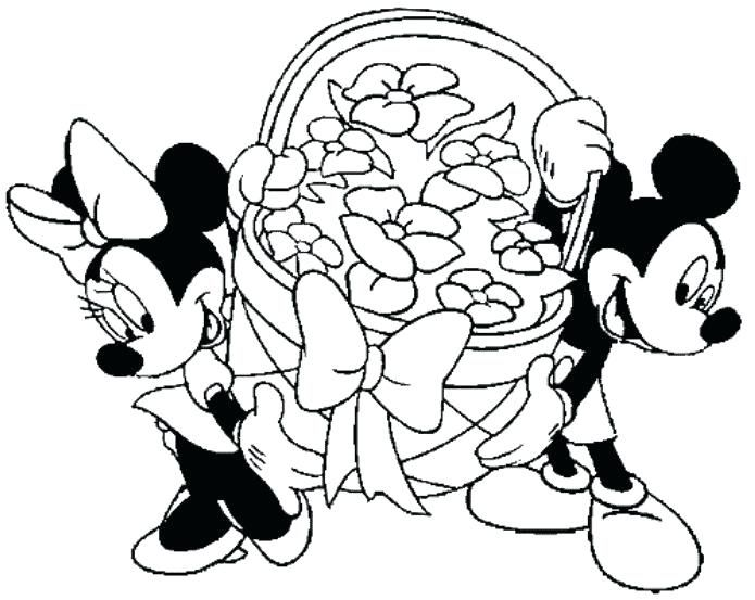 Minnie Mouse Easter Coloring Pages 9